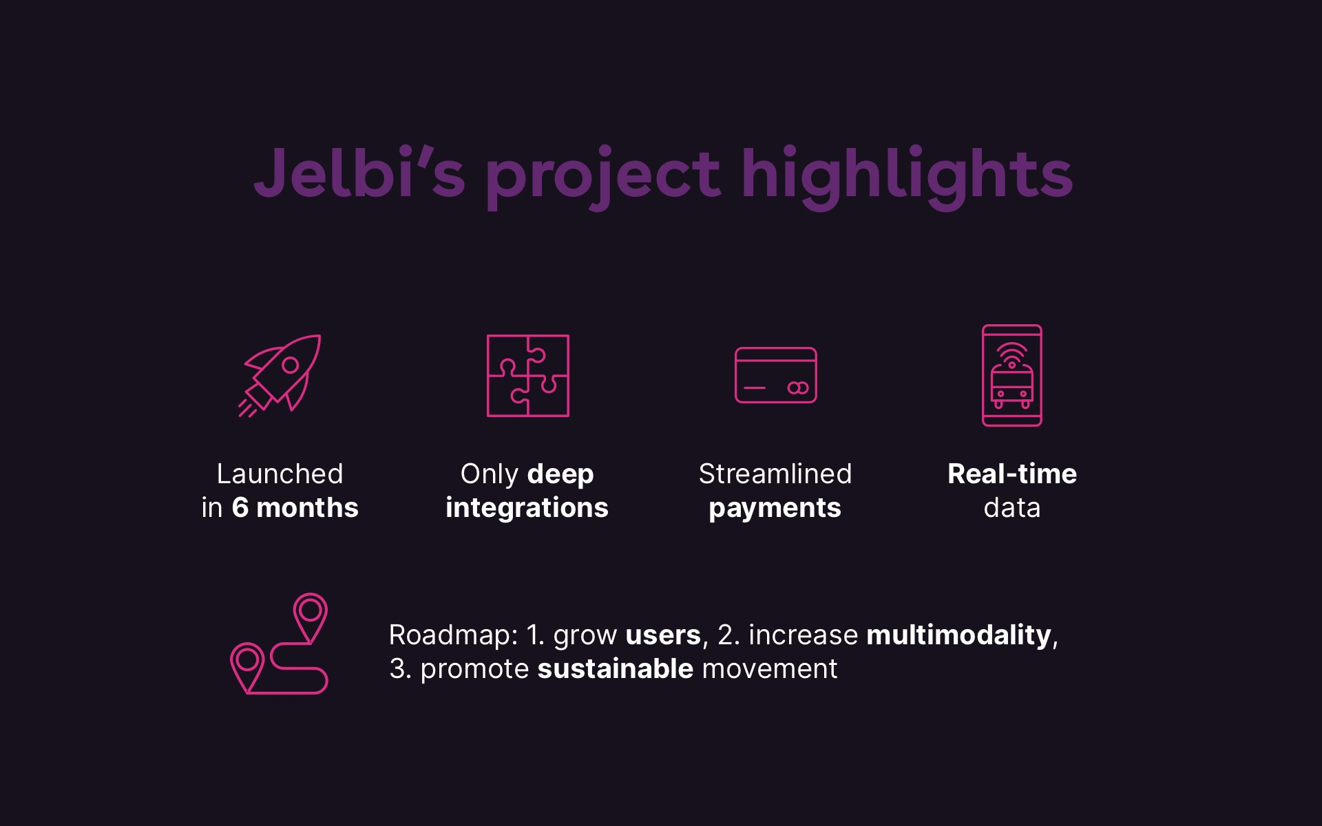 Jelbi roadmap