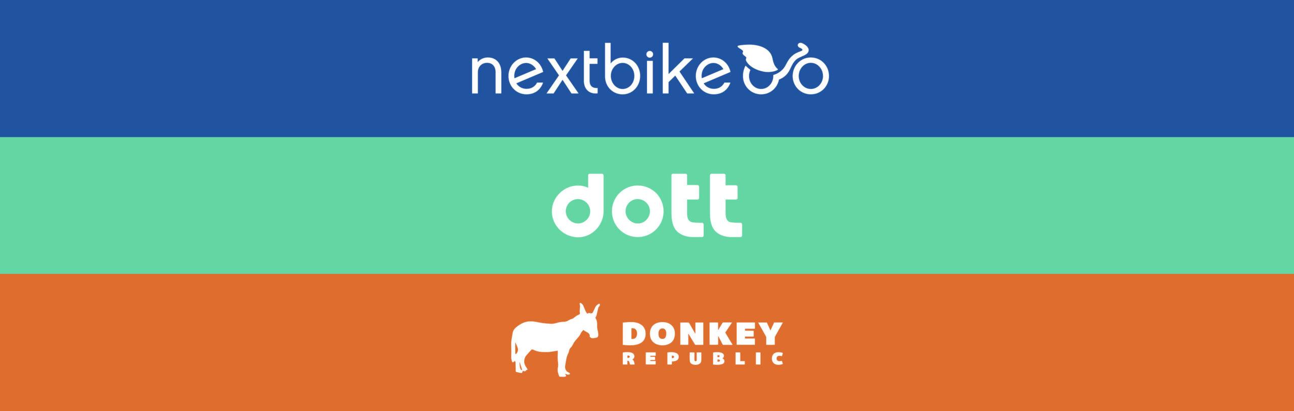 Nextbike, dott, Donkey Republic